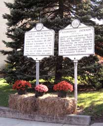 Historic markers at Hampshire County's courhouse in Romney.